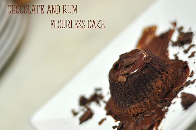 Chocolate and Rum Flourless Cake