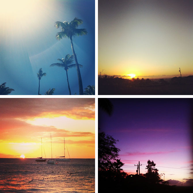 sunrises and sunsets in Barbados
