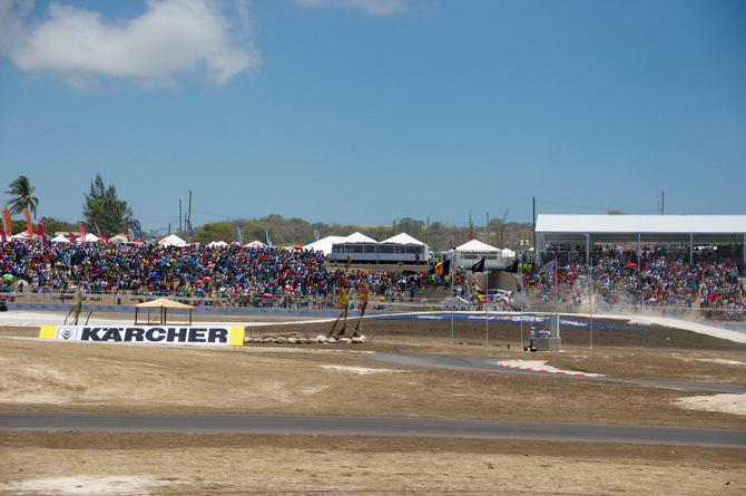Sea of people at Top Gear Festival Barbados and Redbull Global Rally Cross