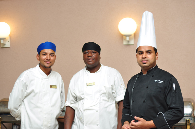 Men of the hour- Executive Chef Abunasar Siddiqui (right)