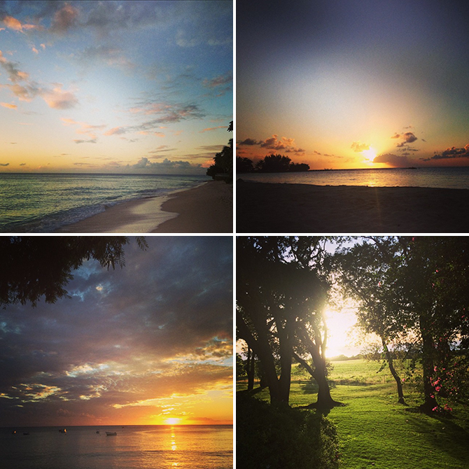 Sunsets in Barbados