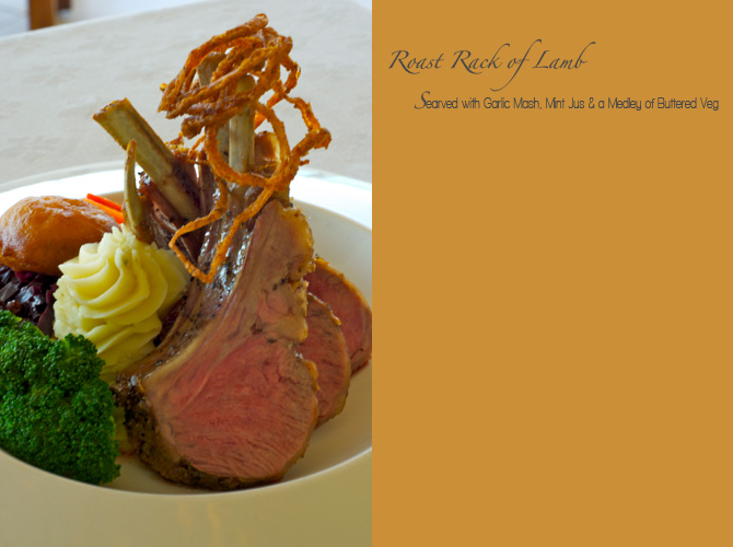 Roasted Rack of Lamb - The Tides Restaurant Barbados