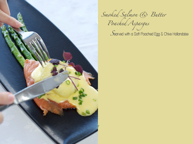 Smoked Salmon and Buttered Poached Asparagus - The Tides Restaurant Barbados