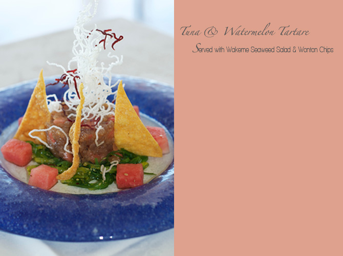 Tuna Tartare and Watermelon Salad - The Tides Restaurant Barbados