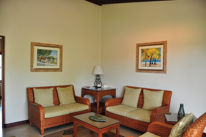 Living Room at The Sugar Cane Club Barbados