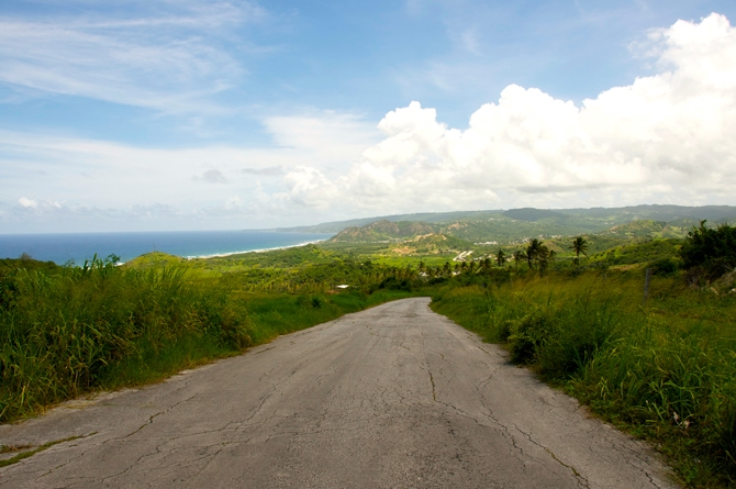 Magnetic Hill or Morgan Lewis Hill Barbados