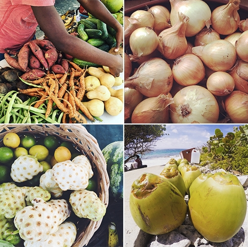 Local produce in Barbados