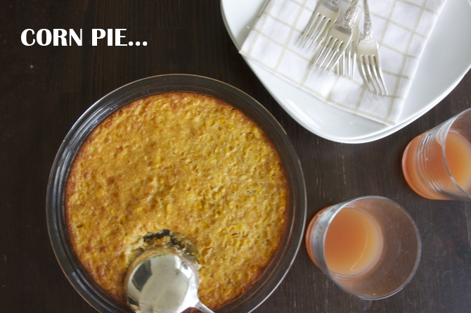 ... favorited side dishes in barbados is corn pie you can find corn pie