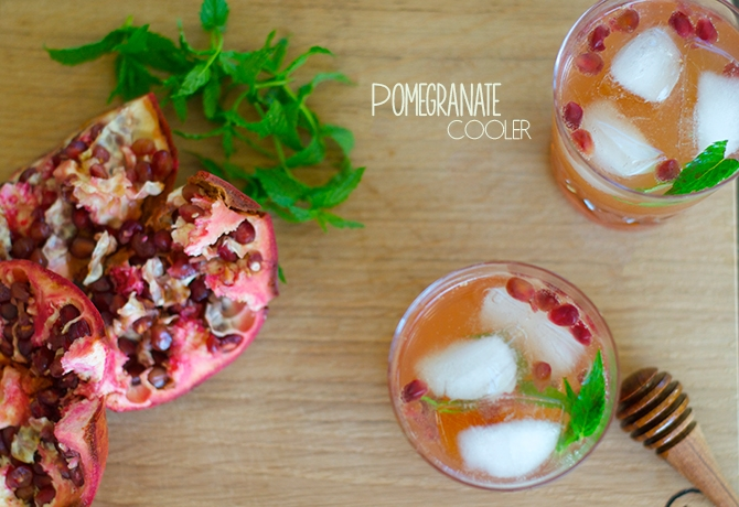Bottoms up: Pomegranate cooler in Barbados