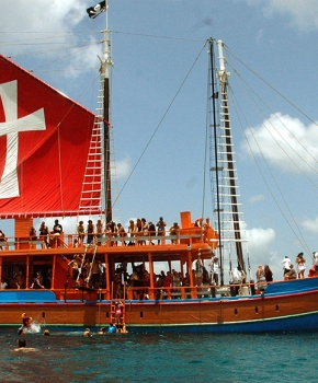 Main Boat for Black Pearl Party Cruises Barbados