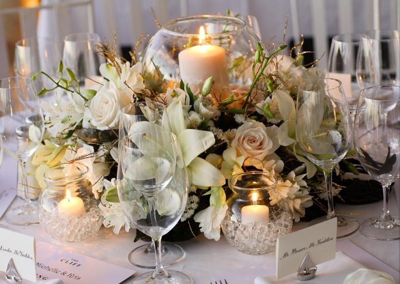 Weddings By Malissa Barbados- Floral centerpiece