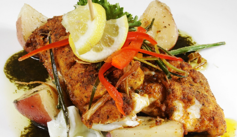Catch of the Day at The Mews Restaurant Barbados