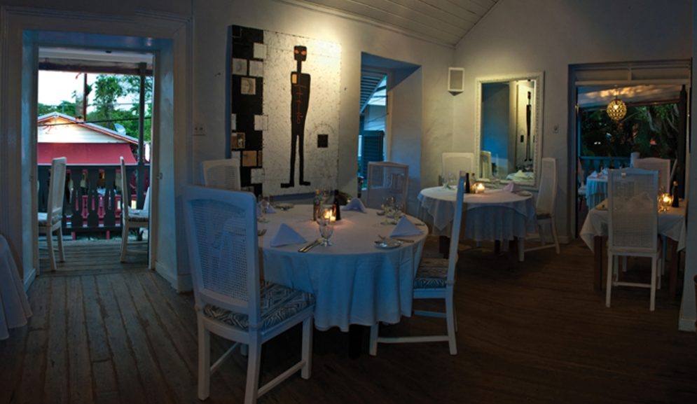 Upstairs Dining at The Mews Restaurant Barbados