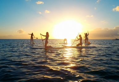 Stand up paddle boarding in Barbados
