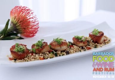 Scallops with Israeli Couscous by Cin Cin