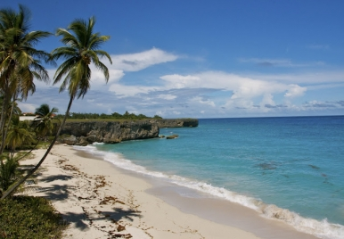 View Looking East on Bottom Bay Beach, Barbados