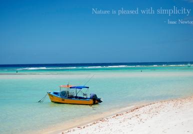 Sandy Beach Barbados - perfect piece of simplicity