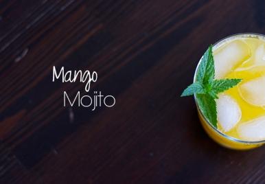 Mango Mojito made with Barbados very own Mangos