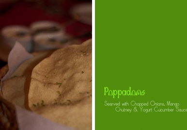 Poppadoms At Sitar Restaurant Barbados