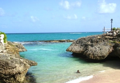 Shark's Hole Barbados (photo via Nikola Simpson)