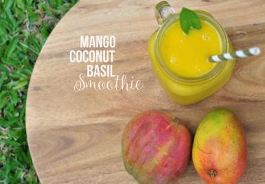 Mango Coonut Basil Smoothie Recipe