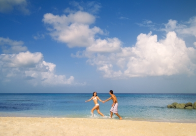 Almond Beach Resort,Barbados- Couple In The Sand
