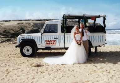 Tropical Weddings Barbados- Jeep Wedding